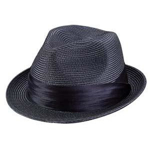 Broner Sicily Braid Fedora Hat NAVY / S/M, HATS - BRONER, Levine Hat Co. - 3