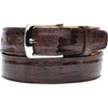 "Belvedere Ostrich Leg Belt Brown / Fits up to 44"", Belt - BELVEDERE, Levine Hat Co. - 3"