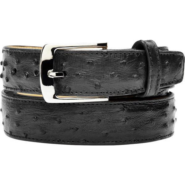 "Belvedere Ostrich Quill Belt Black / Fits up to 44"", Belt - BELVEDERE, Levine Hat Co. - 2"
