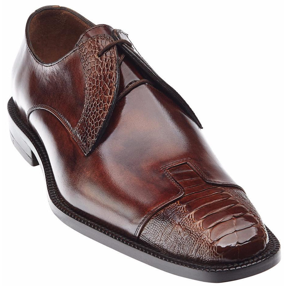 Pisa Ostrich Skins by Belvedere Almond / 8, Shoes - BELVEDERE, Levine Hat Co. - 1