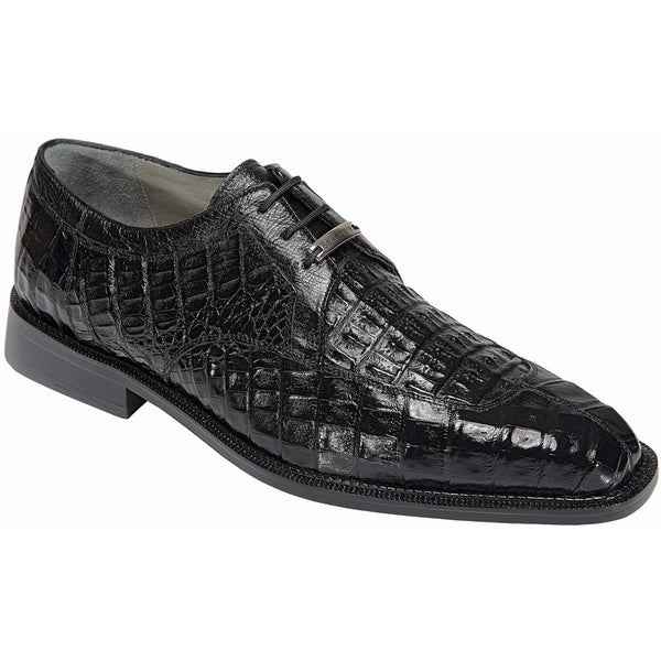 Susa Crocodile Lace-up by Belvedere Black / 8, Shoes - BELVEDERE, Levine Hat Co. - 1