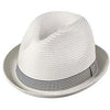 Broner Perfect Gentleman Braid Fedora Hat WHITE / M, HATS - BRONER, Levine Hat Co. - 3