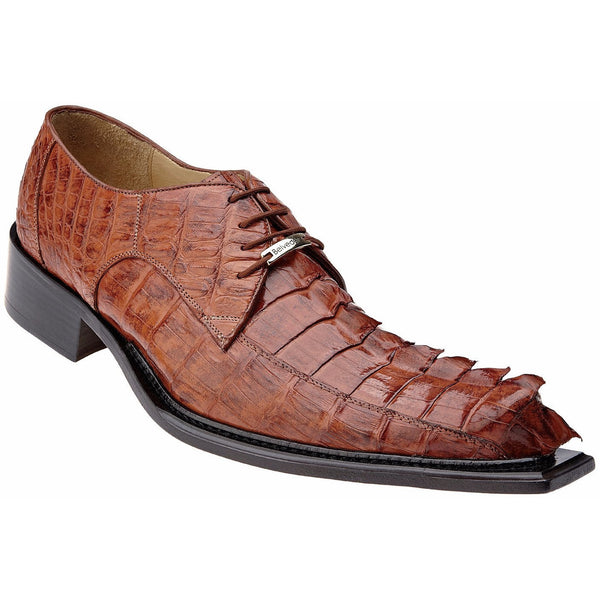 Zeno Hornback Crocodile Oxford by Belvedere Cognac / 8, Shoes - BELVEDERE, Levine Hat Co. - 1