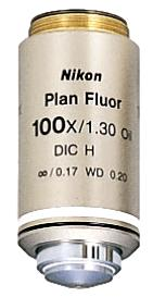 Nikon 100x Oil Plan Fluorite Microscope Objective
