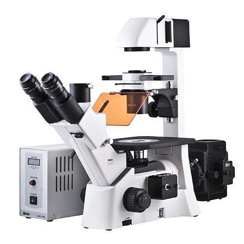 Motic AE31 Inverted Phase Contrast Fluorescence Microscope