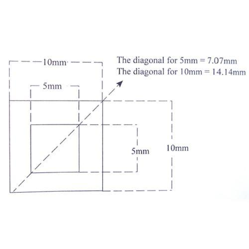 5mm Square Within 10mm Square Reticle KR-807