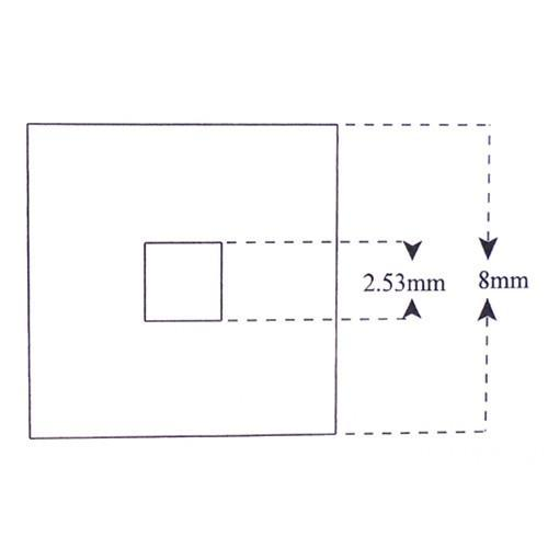 2 Concentric Squares 2.53mm and 8mm Reticle KR-813