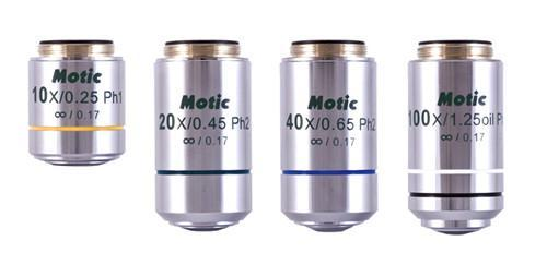 EC Plan Achromat Objectives for Motic BA210 & BA310 Microscope Series