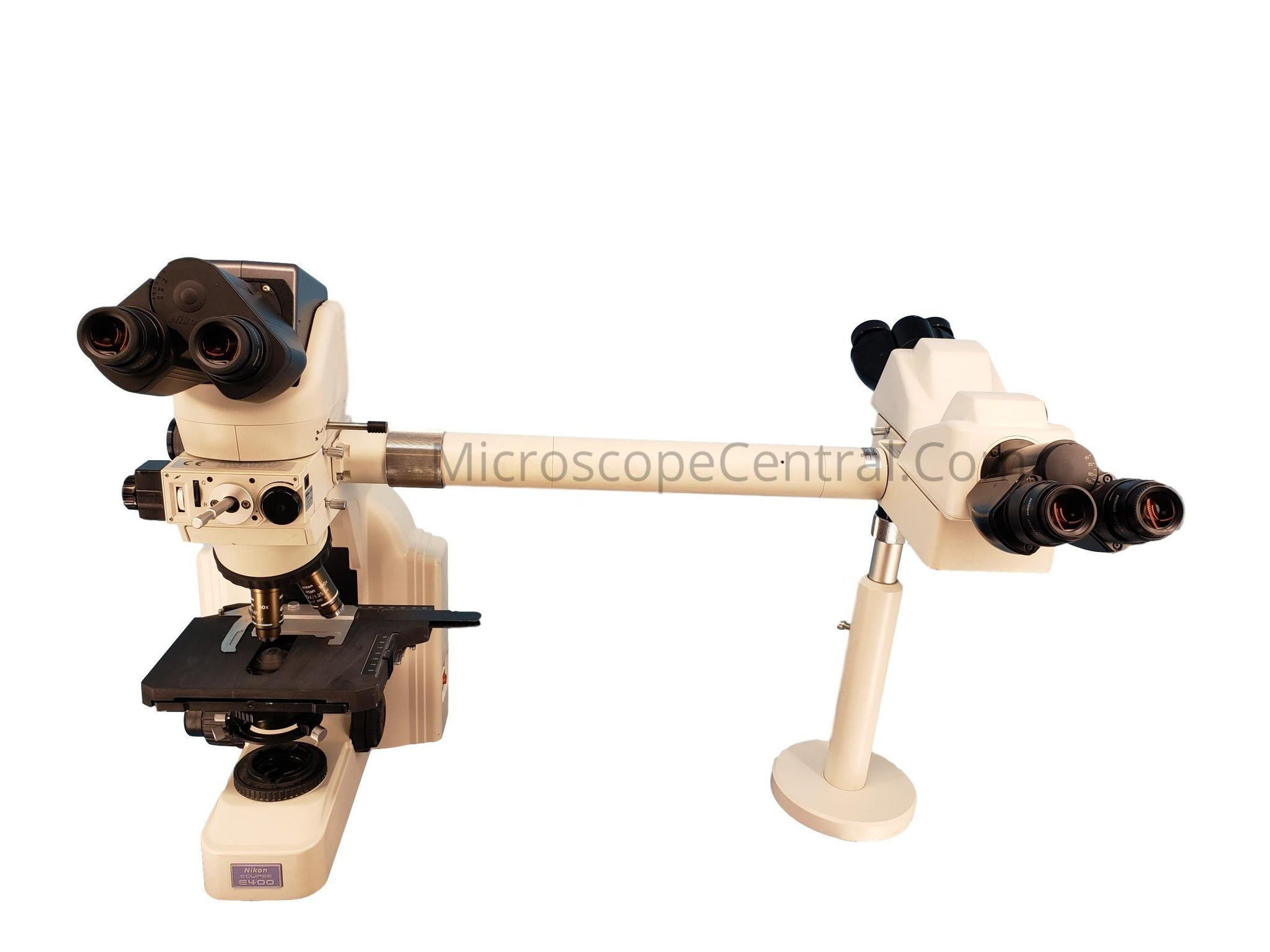 Nikon E400 3 Head Pathology Teaching Discussion Microscope