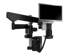Scienscope MAC2-PK3-AN HD Macro Zoom Video System - Camera & Monitor with LED Annular Ring Light on Heavy Duty Articulating Arm