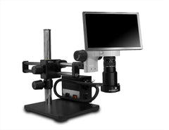 Scienscope MAC2-PK5-AN-D HD Macro Zoom Video System -  Camera & Monitor with Annular Ring Light on Dual Arm Boom Stand