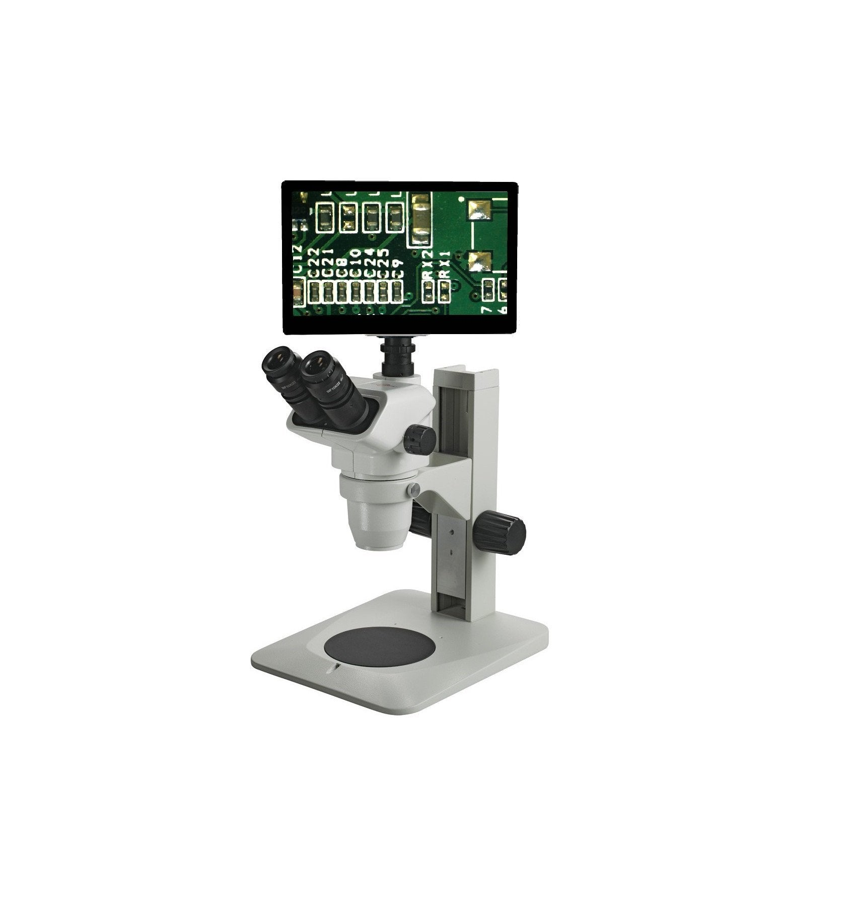 Accu-Scope 3076 Plain Stand Digital Stereo Microscope 0.67x - 4.5x