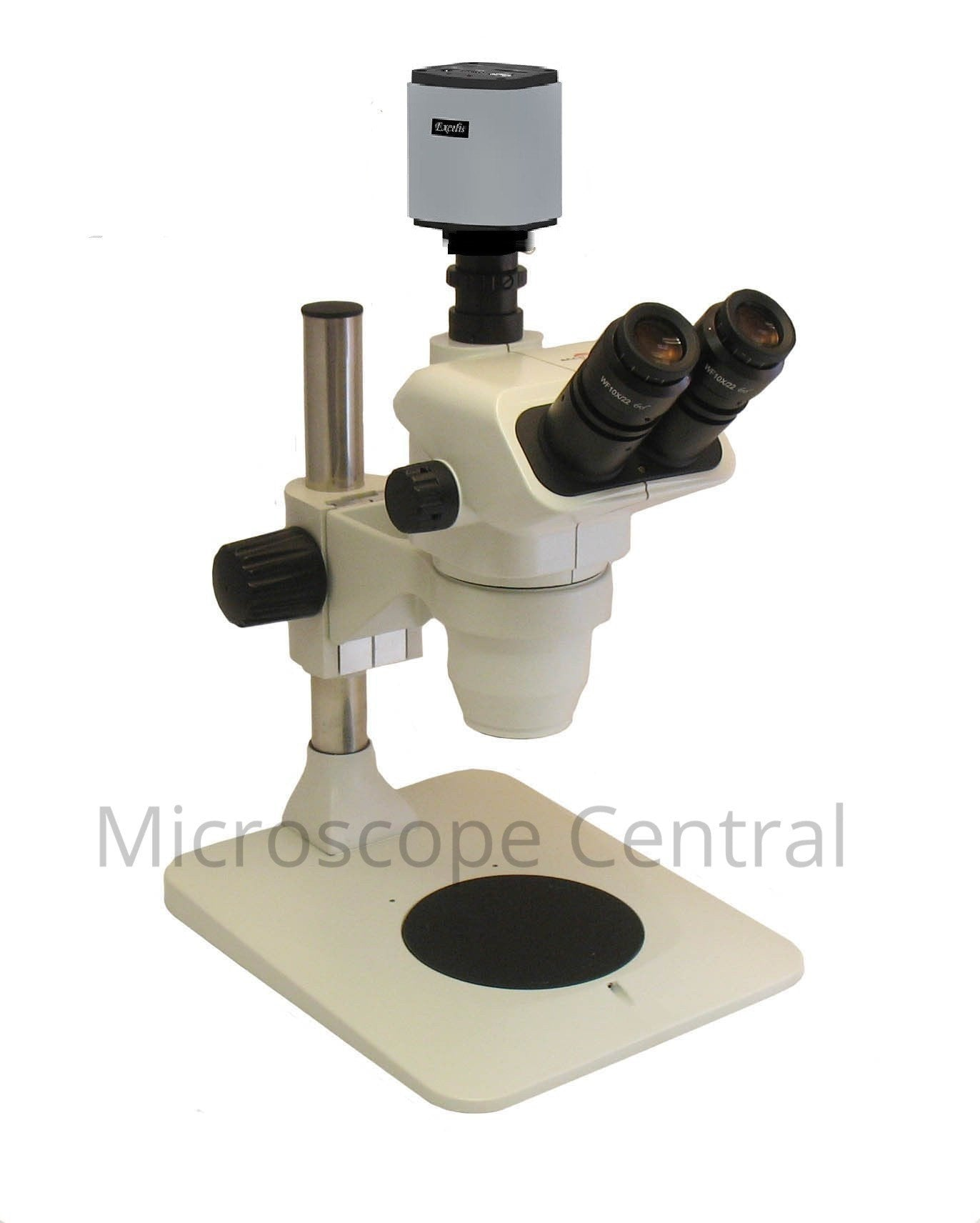 Accu-Scope 3076 Pole Stand Digital Stereo Microscope 0.67x - 4.5x