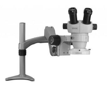 Scienscope ELZ-PK1-FR Mini Stereo Zoom Binocular Microscope - On Articulating Arm with Fluorescent Ring Light