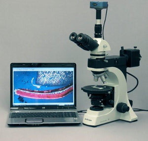 AmScope 50X-1250X EPI Infinity Polarizing Microscope + 5MP Digital Camera