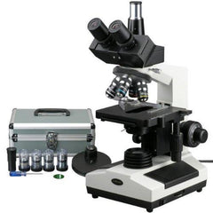 AmScope 40X-2000X Phase Contrast Turret Doctor Veterinary Trinocular Compound Microscope