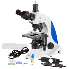 AmScope 100X-1000X 3MP Digital Trinocular LED Infinity Plan Phase Contrast Microscope