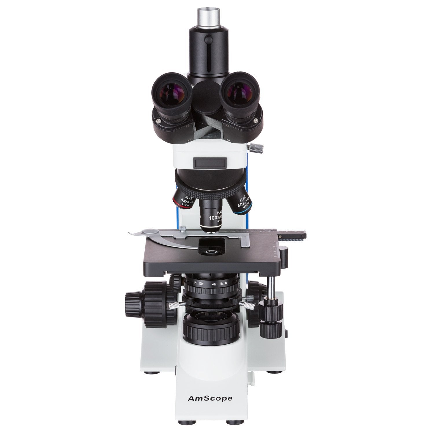 AmScope 40X-1000X Plan Infinity Kohler Laboratory Research Microscope + 5MP USB3.0 Camera