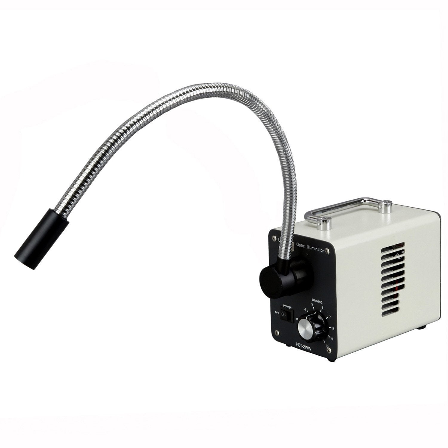 20W LED Fiber Optic Single Gooseneck Light Microscope Illuminator