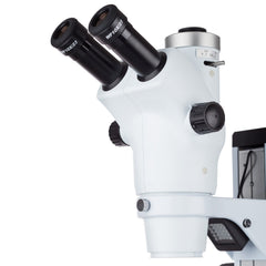 AmScope 6X-50X Trinocular Zoom Stereo Microscope with Dual Illumination + High-speed 3.1MP Camera