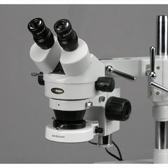 AmScope 7X-45X Zoom Magnification Circuit Inspection Stereo Microscope with 80 LED Light
