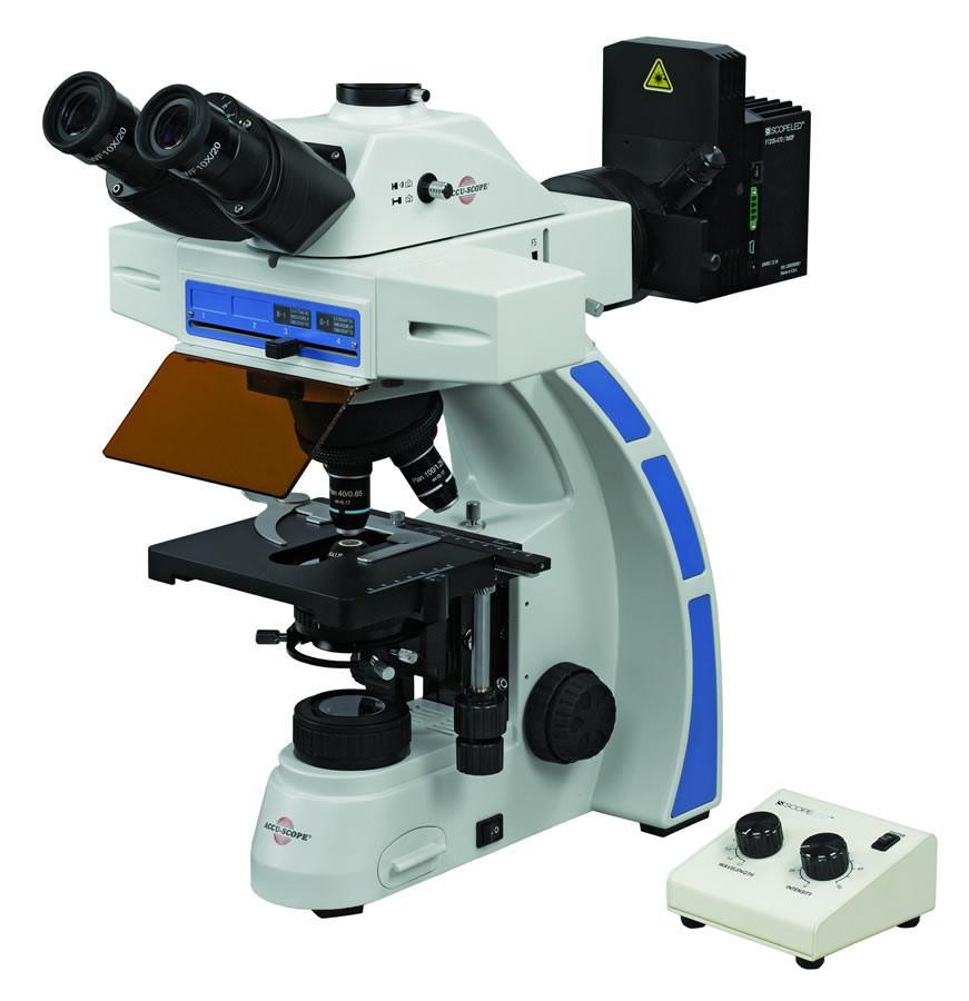 Accu-Scope EXC-350 LED Fluorescence Dual Wavelength Microscope