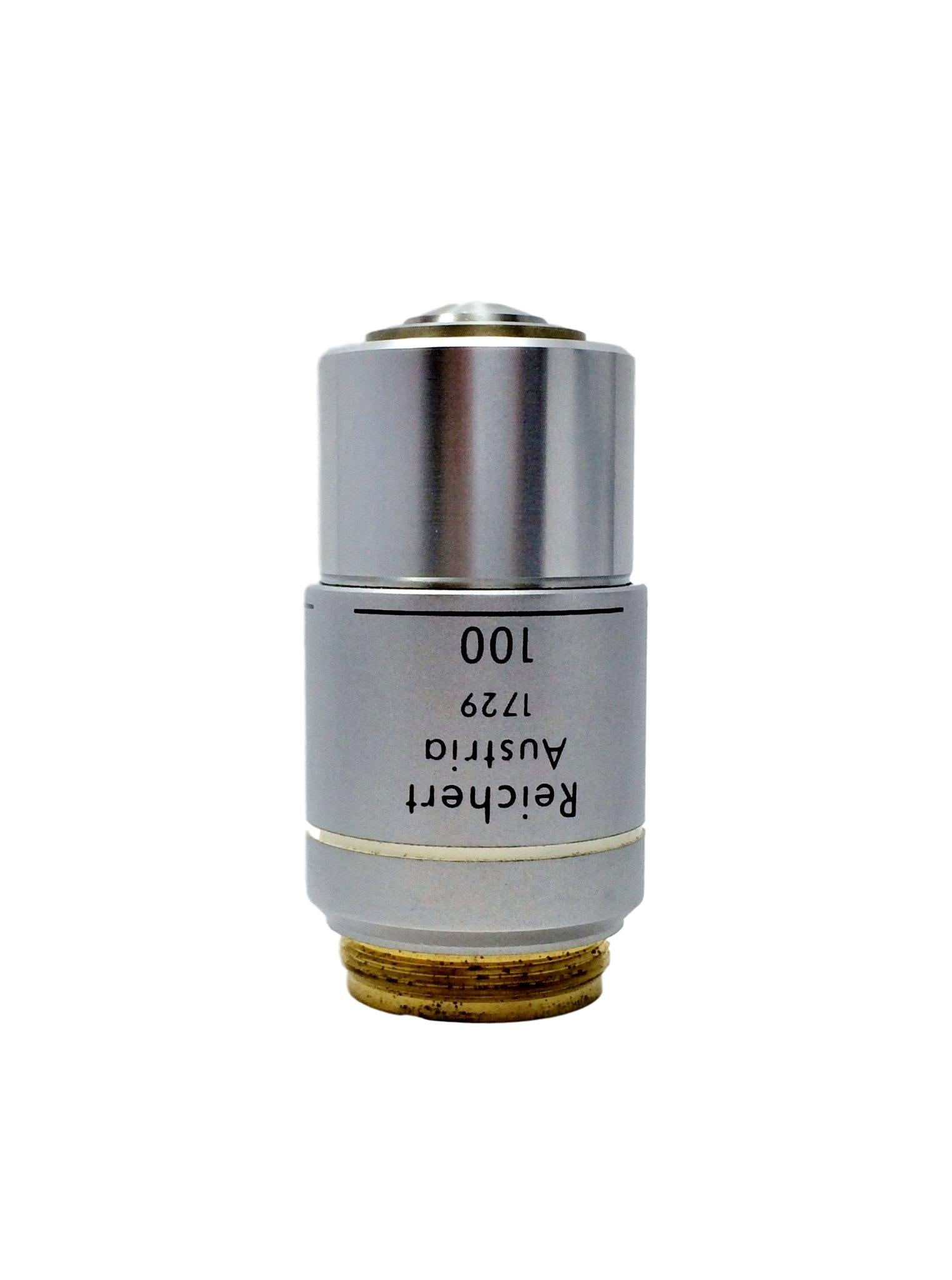 Reichert Plan Fluorite 100X Oil Microscope Objective