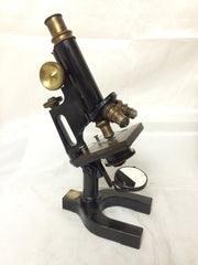 Vintage 1908 Bausch & Lomb Monocular Compound Microscope with Case