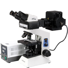 AmScope 40x-1600x Widefield EPI-Fluorescent Binocular Compound Microscope - FM580BA