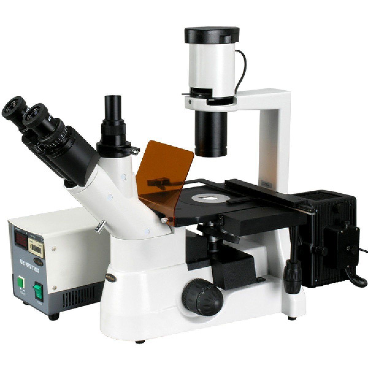 AmScope 40x-1000x Plan Phase Contrast Culture Inverted Fluorescence Microscope - IN300TC-FL
