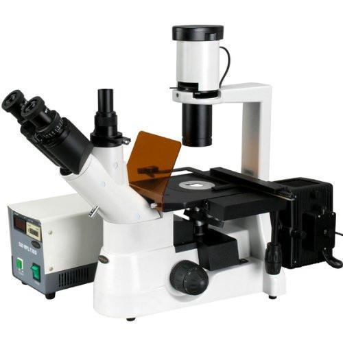 AmScope 40x-600x Plan Phase Contrast Culture Fluorescent Inverted Microscope - IN300TA-FL