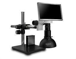 Scienscope MAC2-PK5-DM-S HD Macro Zoom Video System -  Camera & Monitor with LED Dome Light on Single Arm Boom Stand