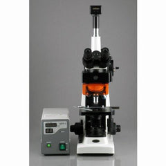 AmScope 40X-1600X EPI Fluorescence Trinocular Microscope + 5MP Digital Camera - FM320TA-5M