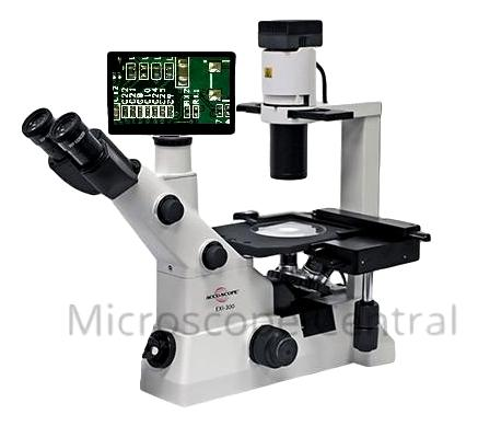 Accu-Scope EXI-300 Inverted Phase Contrast Digital Microscope Package
