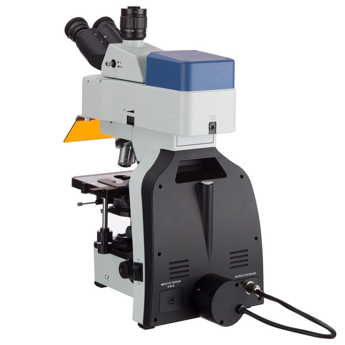 High-Peformance Three Wavelength LED Upright Fluorescence Microscope