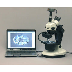 AmScope 7X-90X Advanced Jewel Gem Stereo Zoom Microscope