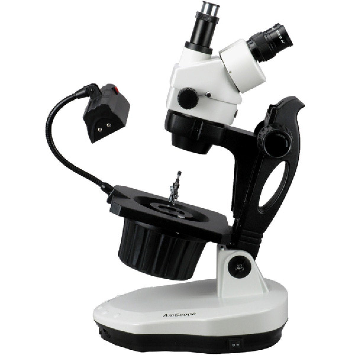 AmScope 3.5X-90X Advanced Jewel Gem Microscope + 10MP Camera
