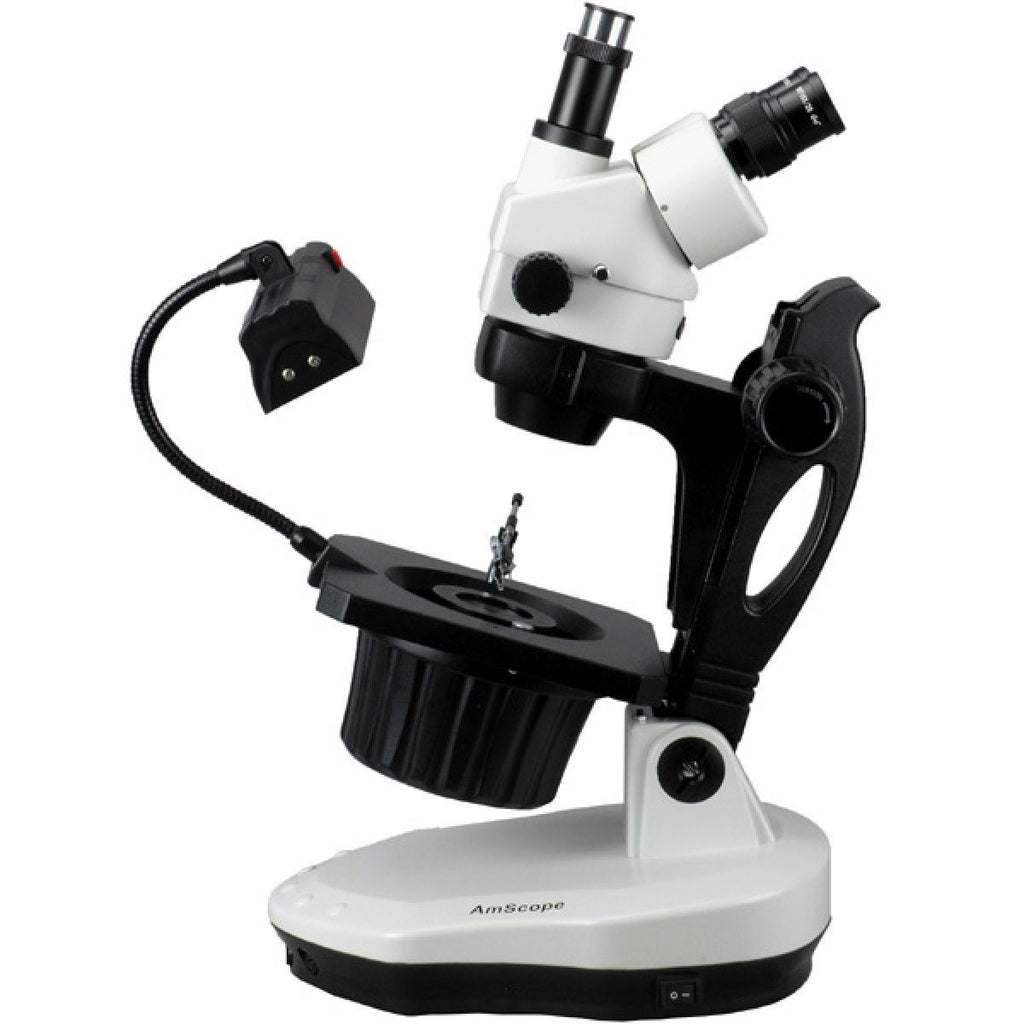 AmScope 3.5X-90X Advanced Jewel Gem Microscope + 8MP Camera