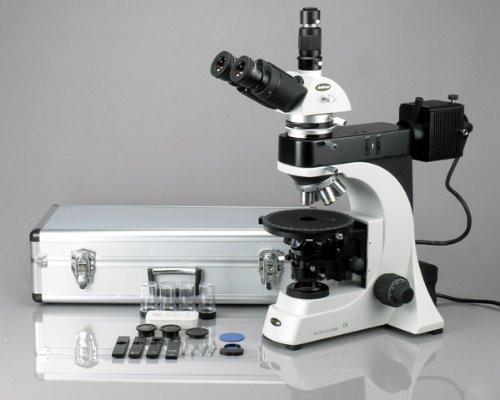 AmScope 50X-1000X EPI Trinocular Infinity Polarizing Microscope + 8MP Camera