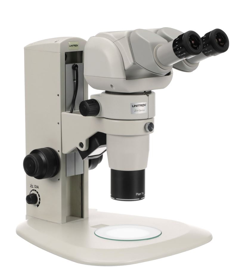 Unitron Z10 Zoom Stereo Microscope Series on Plain Focusing Stand