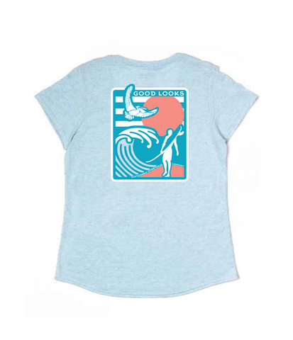 Women's Surfer 100% Recycled T-Shirt