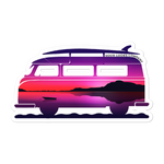 Beach Wagon Sticker