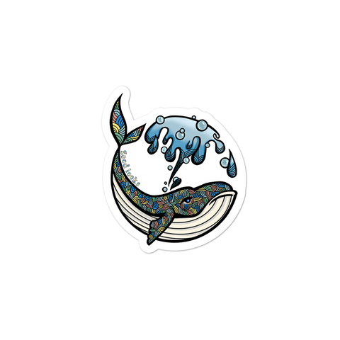 Groovy Whale Sticker