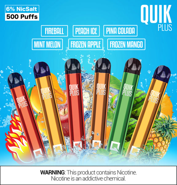 Quik Plus - Disposable Vape Device (Display of 10 Packs)