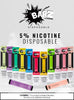 Barz Disposable Device 5% - Lavaporz (Display of 10 Packs)