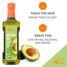 Load image into Gallery viewer, Aceite de aguacate natural refinado de BetterBody Foods, 16.9 onzas