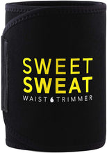 Load image into Gallery viewer, Sports Research Sweet Sweat Premium Cintura recortadora (logotipo amarillo) para hombres y mujeres. ¡Incluye una muestra gratuita de Sweet Sweat Gel!