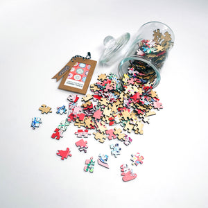 I Go To (250) Pieces Wooden Puzzle: 9 Mandalas in Glass Apothecary Jar