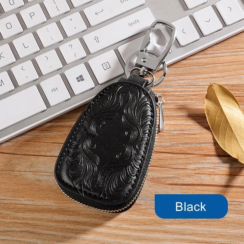 Genuine Leather Car Key Holder key Bag Keychain Wallet