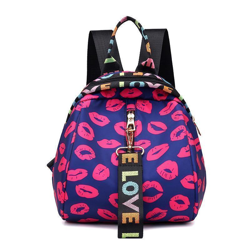 Floral Waterproof Shoulder Bag Backpack
